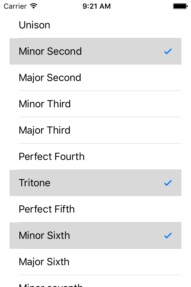 Multiselect UITableView with limited selections   Gene De Lisa